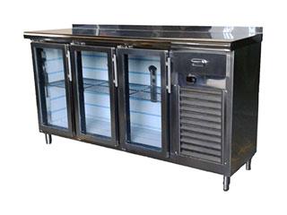 Mostradores frigoríficos con escaparate