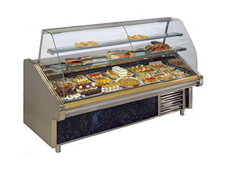 Vitrinas frigoríficas pasteleras (cristal curvo)